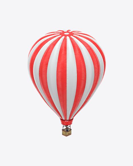 Red Striped Hot Air Balloon