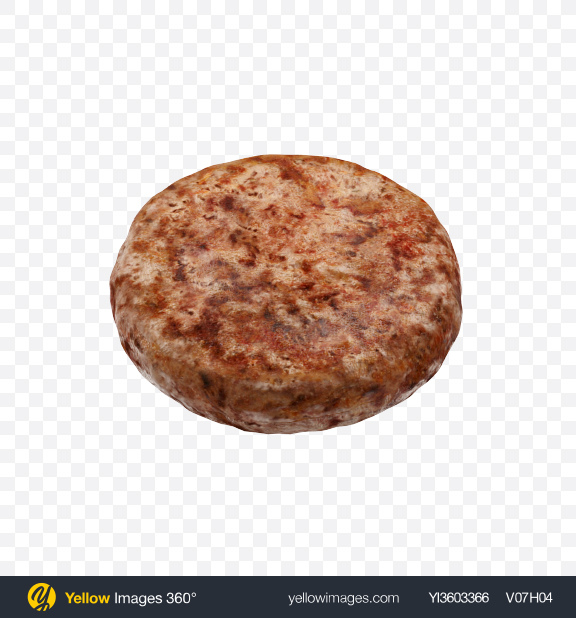 Download Burger Patty Transparent PNG on Yellow Images 360°