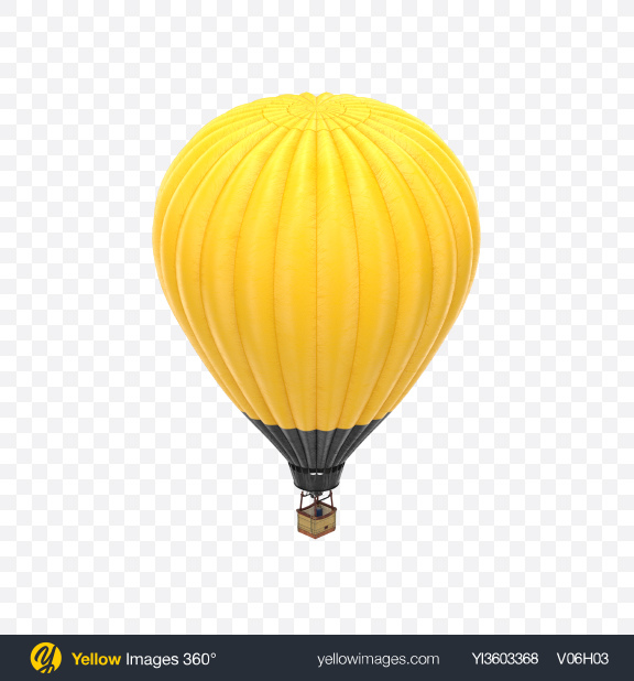 Download Yellow Hot Air Balloon Transparent PNG on Yellow Images 360°