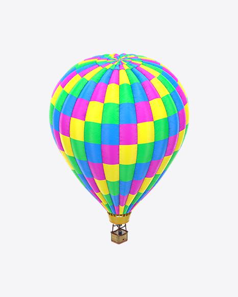 Neon Hot Air Balloon