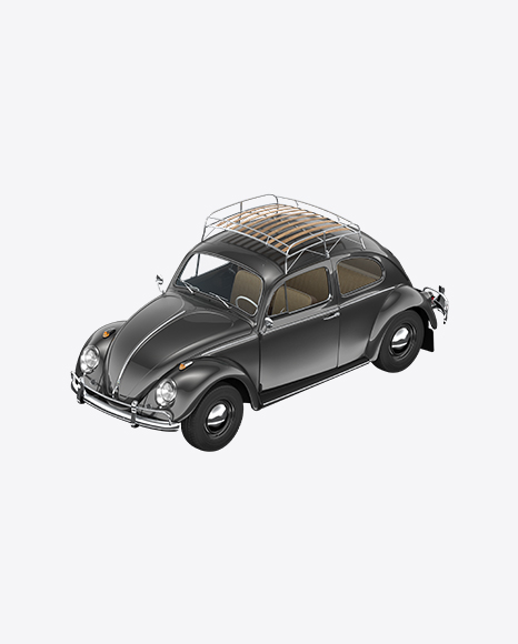 Black Retro Compact Car