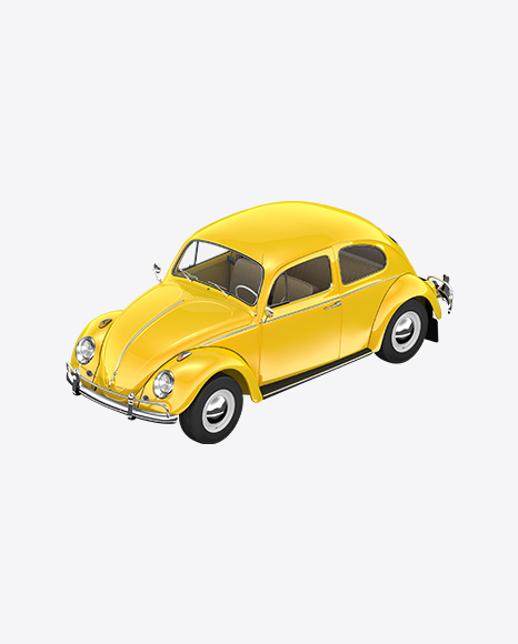 Yellow Retro Compact Car