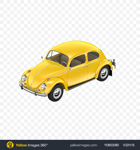 Download Yellow Retro Compact Car Transparent PNG on Yellow Images 360°