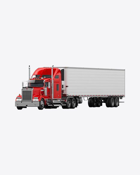Red Semi-Trailer Truck