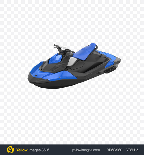 Download Blue Jet Ski Transparent PNG on Yellow Images 360°