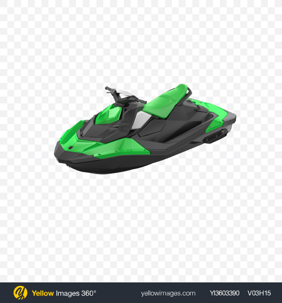 Download Green Jet Ski Transparent PNG on Yellow Images 360°