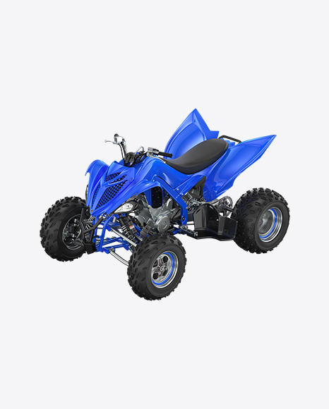 Blue Quad Bike
