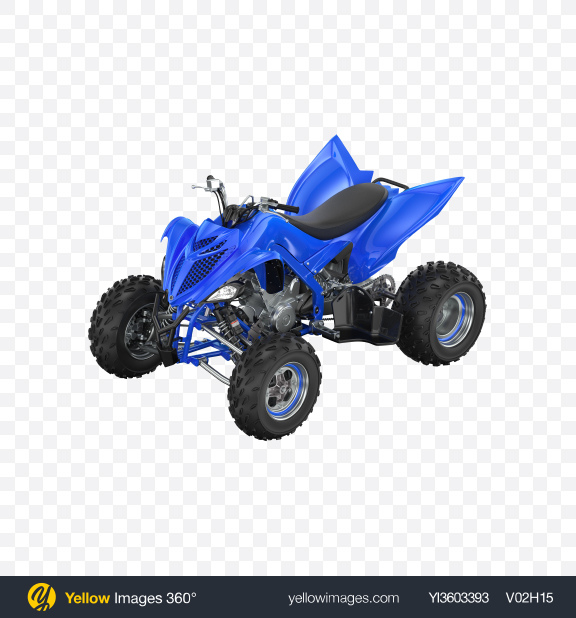 Download Blue Quad Bike Transparent PNG on Yellow Images 360°