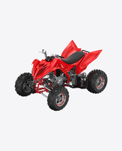 Red Quad Bike