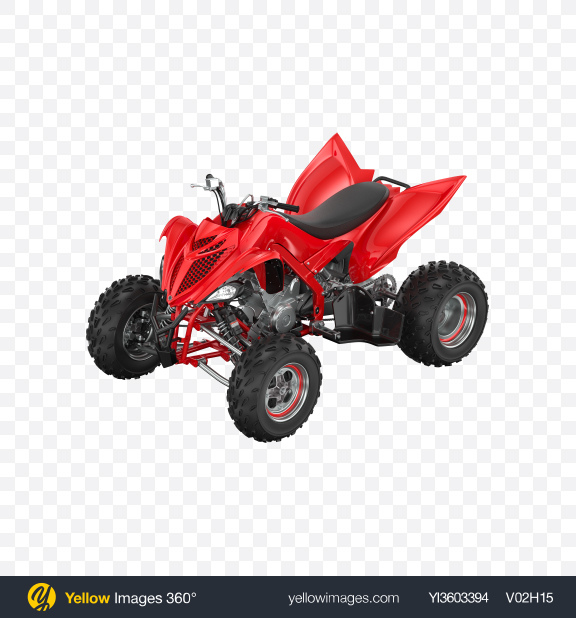 Download Red Quad Bike Transparent PNG on Yellow Images 360°