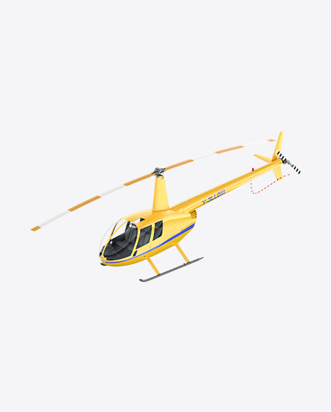 Yellow Light Helicopter