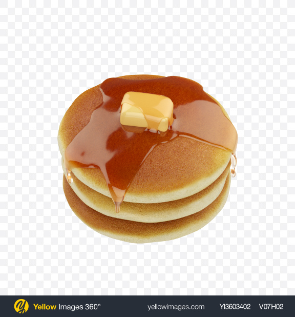 Download Stack of Pancakes Transparent PNG on Yellow Images 360°