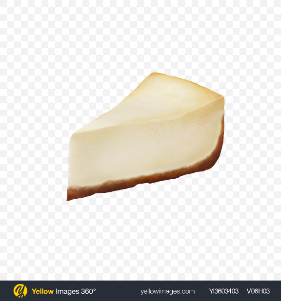 Download Cheesecake Slice Transparent PNG on Yellow Images 360°