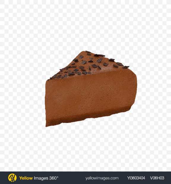 Download Chocolate Cheesecake Slice Transparent PNG on Yellow Images 360°