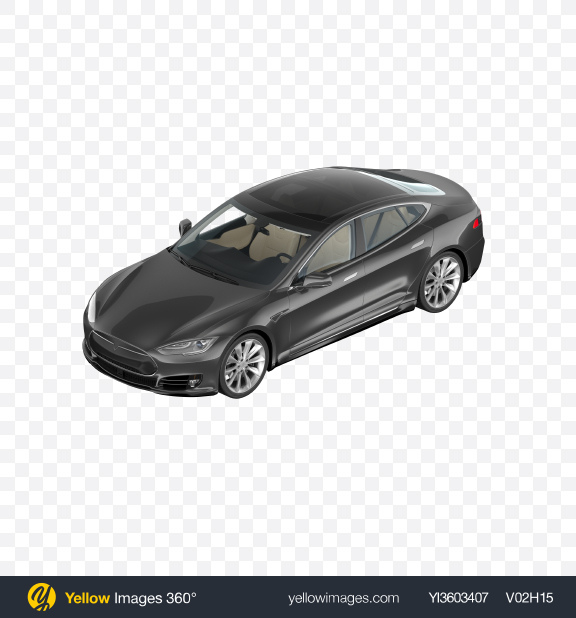 Download Black Electric Liftback Transparent PNG on Yellow Images 360°