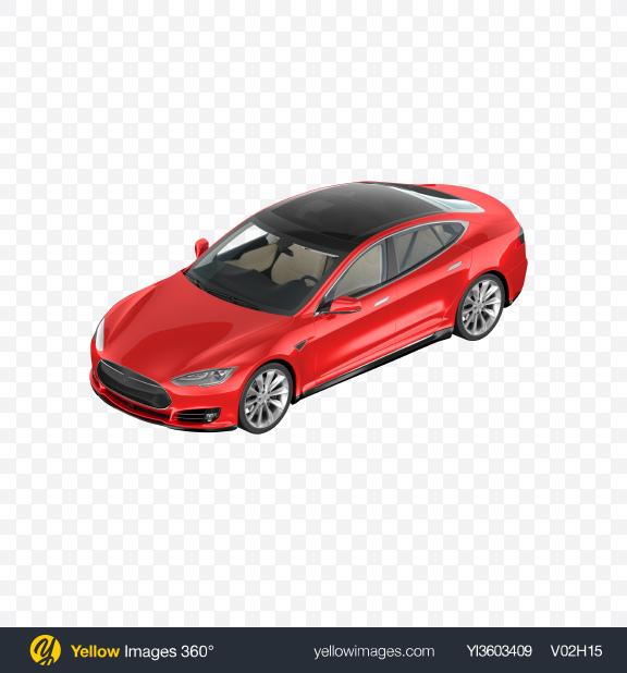 Download Red Electric Liftback Transparent PNG on Yellow Images 360°