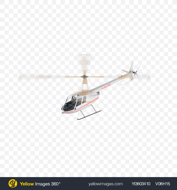 Download Flying White Light Helicopter Transparent PNG on Yellow Images 360°