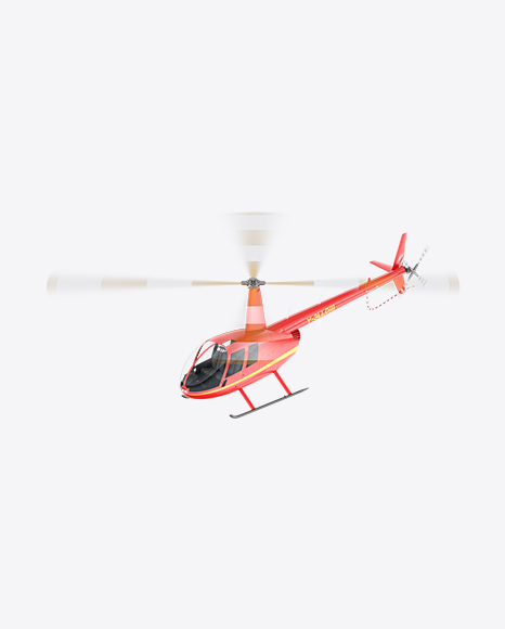 Flying Red Light Helicopter
