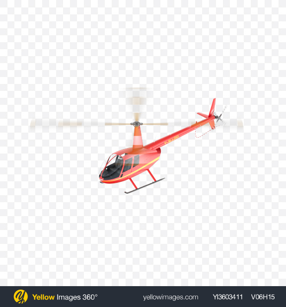Download Flying Red Light Helicopter Transparent PNG on Yellow Images 360°