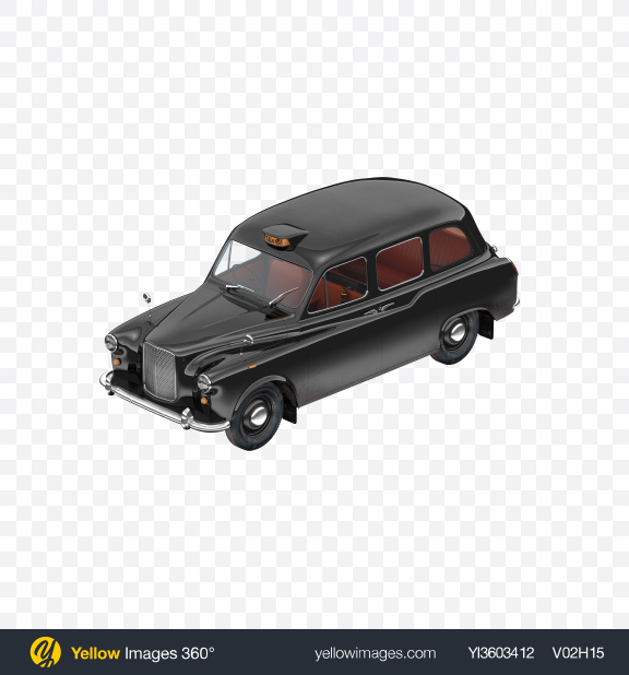 Download Retro Taxi Cab Transparent PNG on Yellow Images 360°