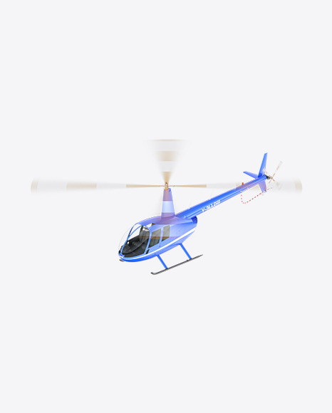 Flying Blue Light Helicopter