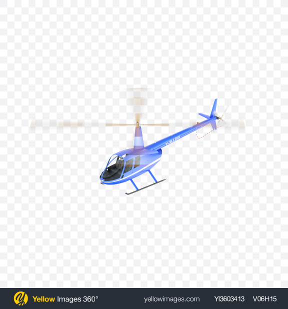 Download Flying Blue Light Helicopter Transparent PNG on Yellow Images 360°