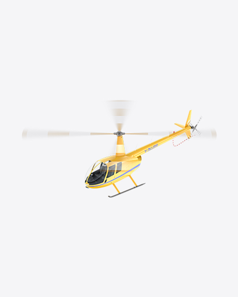 Flying Yellow Light Helicopter