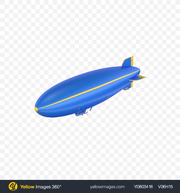 Download Blue Blimp Transparent PNG on Yellow Images 360°