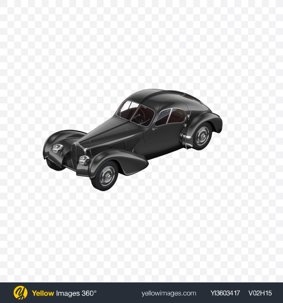 Download Black Retro Car Transparent PNG on Yellow Images 360°