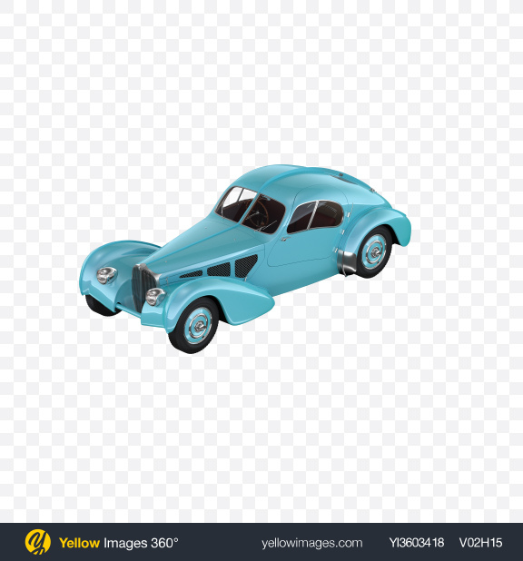 Download Blue Retro Car Transparent PNG on Yellow Images 360°