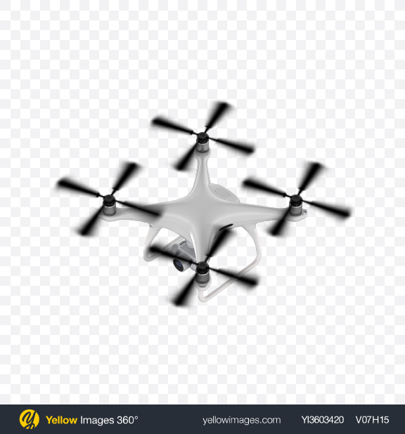 Download White Drone Transparent PNG on Yellow Images 360°