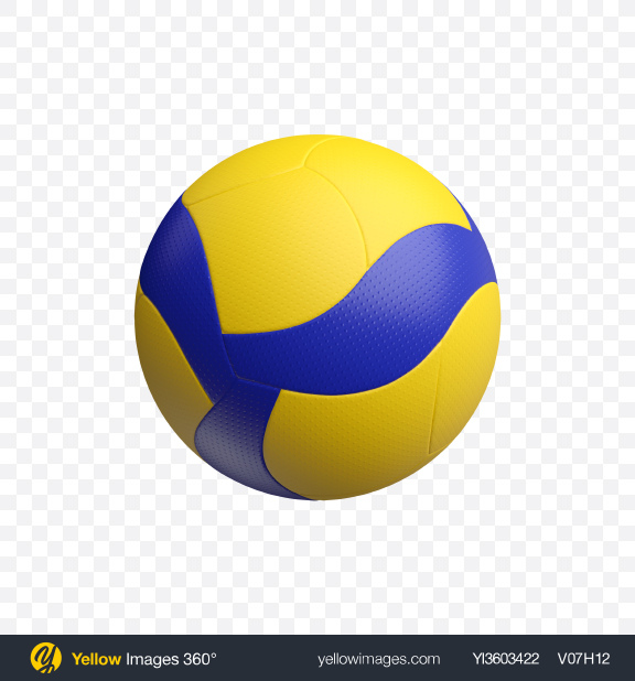 Download Volleyball Ball Transparent PNG on Yellow Images 360°