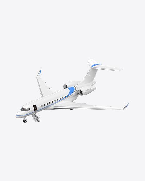 Landing Business Jet