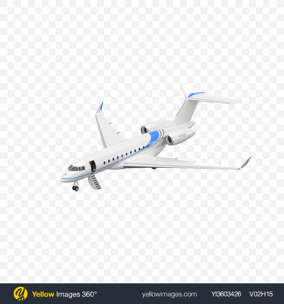 Download Landing Business Jet Transparent PNG on Yellow Images 360°