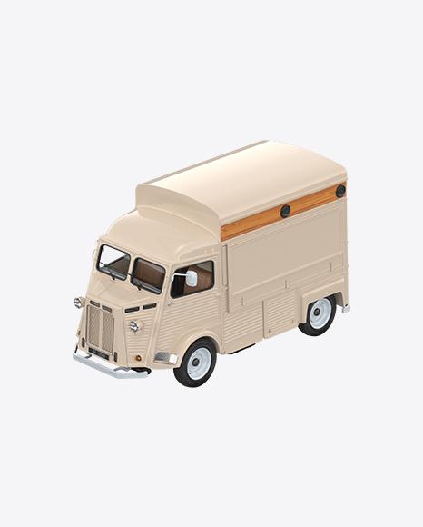 Beige Food Truck