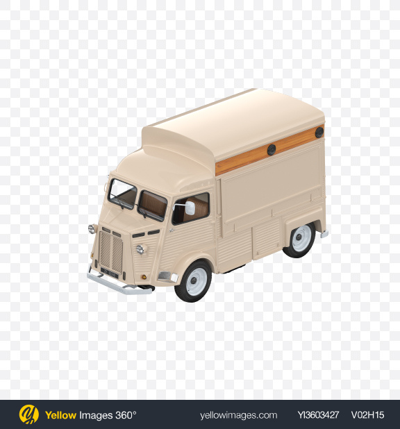 Download Beige Food Truck Transparent PNG on Yellow Images 360°