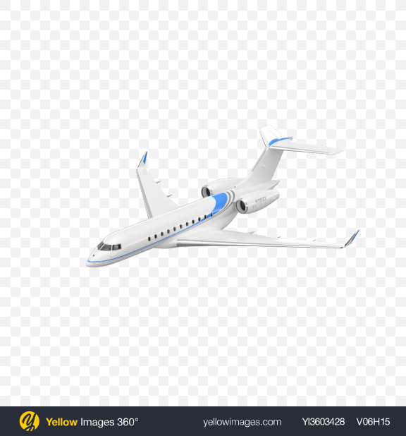 Download Fluing Business Jet Transparent PNG on Yellow Images 360°
