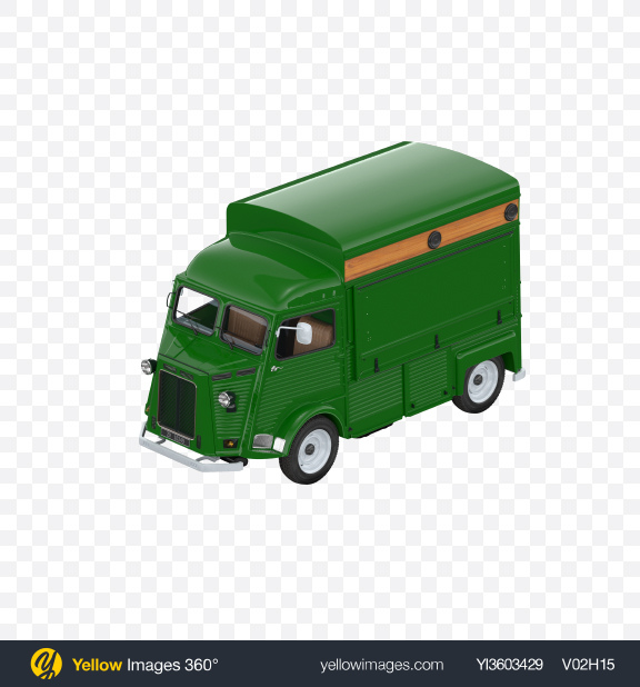 Download Green Food Truck Transparent PNG on Yellow Images 360°