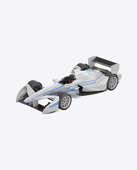 White Electric Racing Car