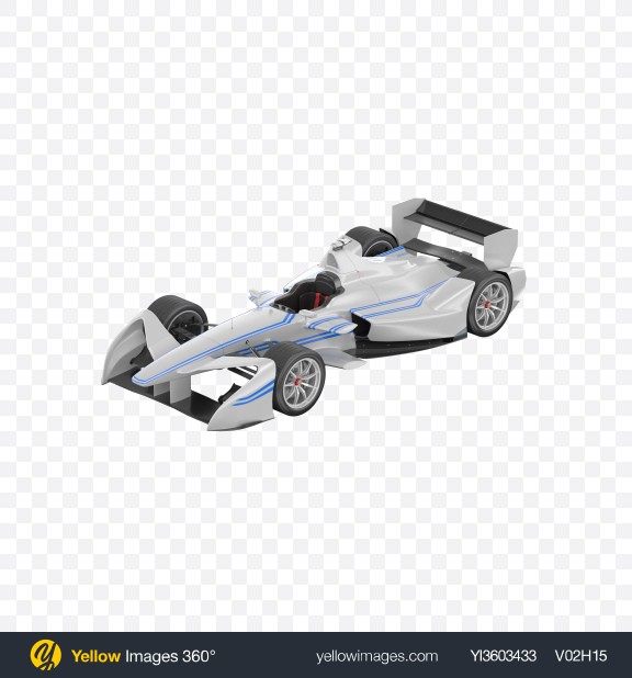 Download White Electric Racing Car Transparent PNG on Yellow Images 360°