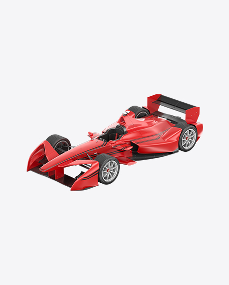 Red Electric Racing Car