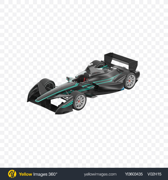 Download Black Electric Racing Car Transparent PNG on Yellow Images 360°