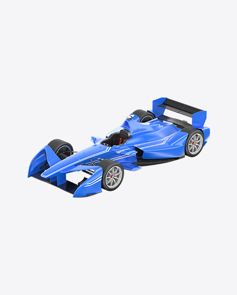 Blue Electric Racing Car