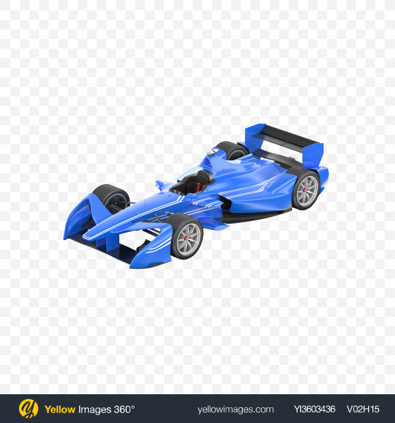 Download Blue Electric Racing Car Transparent PNG on Yellow Images 360°