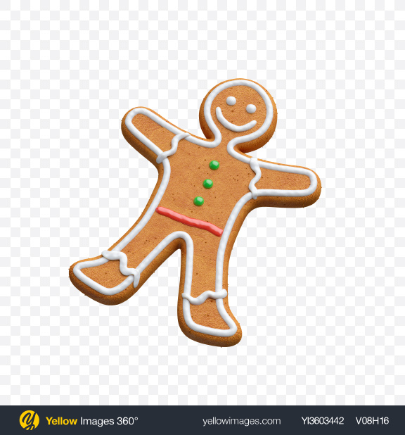 Download Gingerbread Man Transparent PNG on Yellow Images 360°
