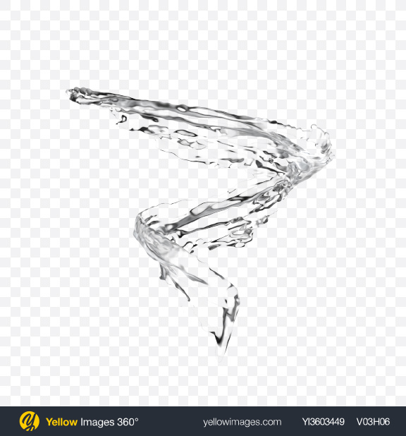 Download PNG Twisted Water Splash Transparent PNG on Yellow Images 360°