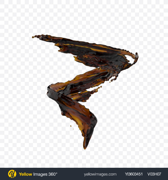 Download PNG Coffee Splash Transparent PNG on Yellow Images 360°