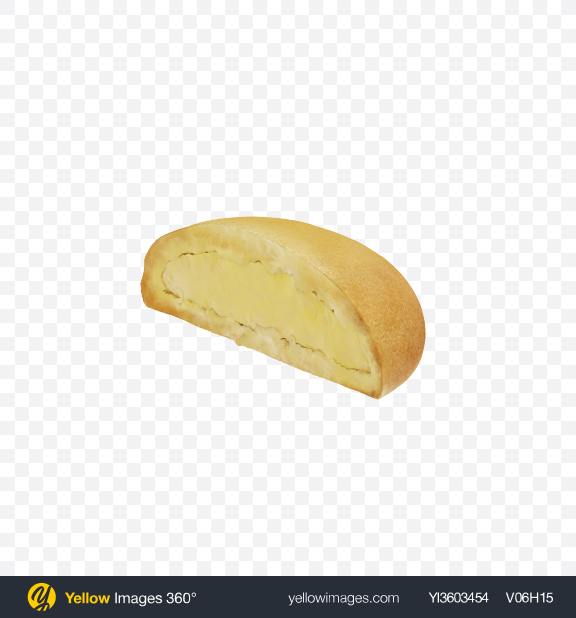 Download Half of Cookie with Vanilla Filling Transparent PNG on Yellow Images 360°
