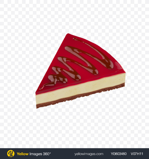 Download Strawberry Cheesecake Slice Transparent PNG on Yellow Images 360°