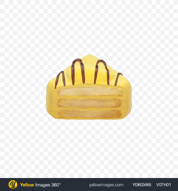 Download Half of Yellow Petit Four Transparent PNG on Yellow Images 360°